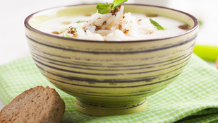 Izgalmas és vega: rizsleves mentával