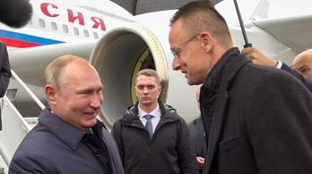 Putyin leszállt Ferihegyen