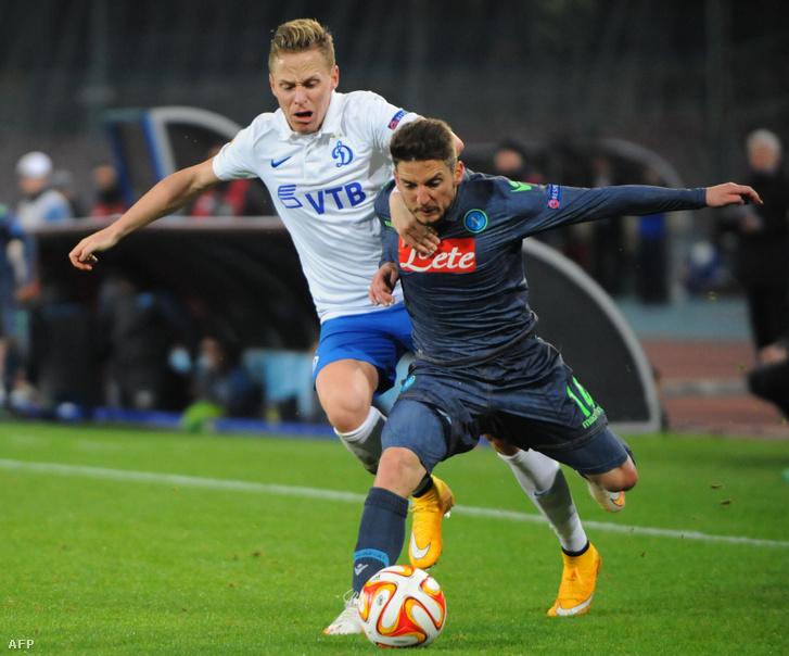 Dzsudzsák és Mertens egy Dinamo Moszkva–Napoli meccsen