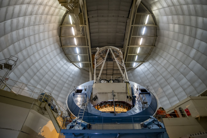 A view of the interior of the Mayall Telescope at Kitt Peak Nati