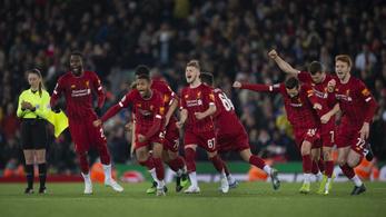 Az év meccse az angol Ligakupában: 5-5 után, 11-esekkel ment tovább a Pool