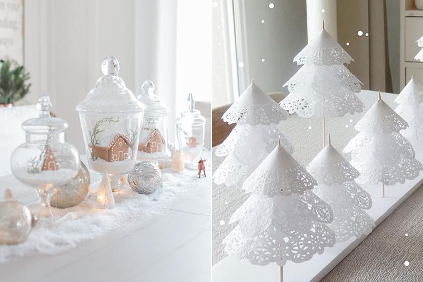 Mesés, hófehér karácsonyi dekorációk az otthonodba - Nem kell hozzájuk kézügyesség