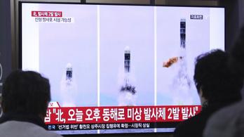 Újabb rakétákat lőtt ki Észak-Korea a Japán-tengerbe