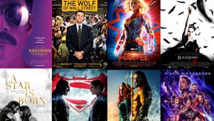Párbajkvíz! Íme kettesével a '10-es évek legsikeresebb filmjei – melyik kaszált nagyobbat?