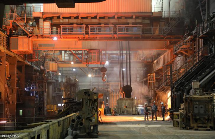 A második legnagyobb német acélipari csoport a Salzgitter salzgitteri gyára 2019. március 5-én.
