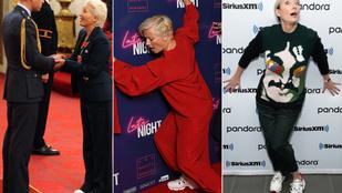Emma Thompson öltözködésére minimum azóta érdemes figyelni, amióta tornacipőben ment a Buckingham-palotába