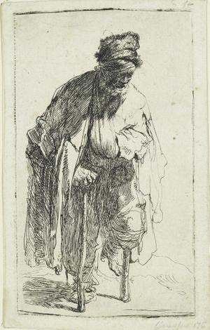 Rembrandt Harmensz. van Rijn: Falábú koldus, 1630 körül