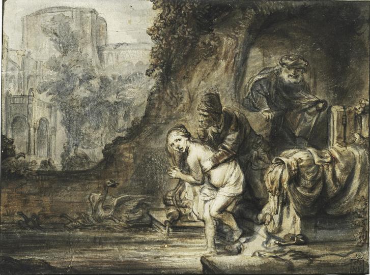 Barent Fabritiusnak tulajdonítva: Zsuzsanna a fürdőben, 1646/1647