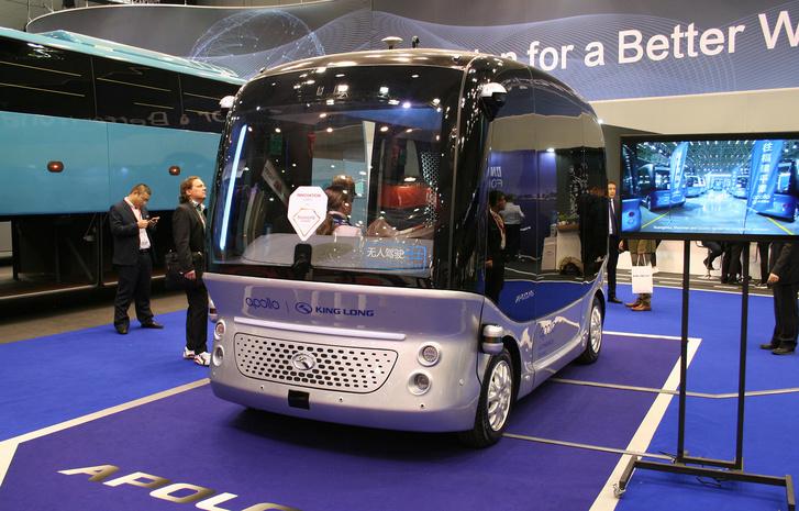 A King Long önvezető minibuszából már 150 közlekedik Kínában, baleset nélkül