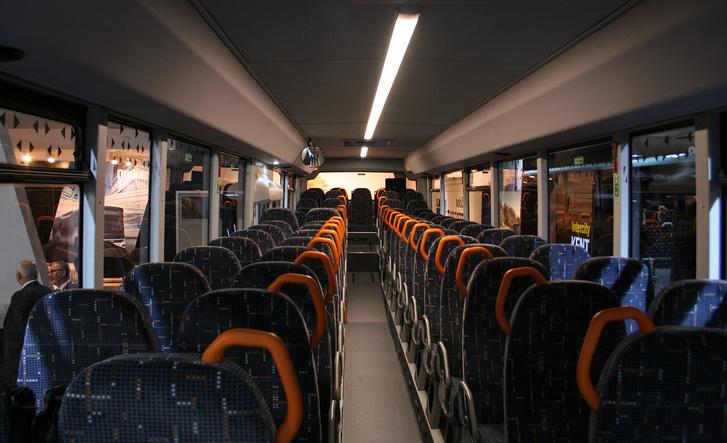 A Territo iskolabusz belső tere