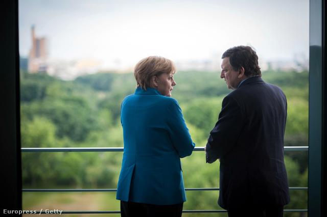 Angela Merkel és José Manuel Barroso