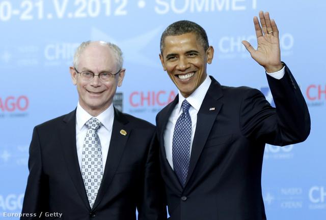 Két őszinte mosoly: Herman Van Rompuy, az Európai Tanács elnöke Barack Obama társaságában