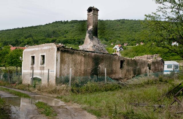A leégett balatongyöröki ház