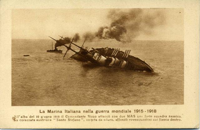 Az SMS Szent István csatahajó süllyedése