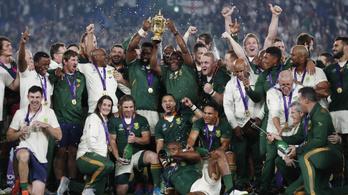 Dél-Afrika hibátlan a rögbi-vb-döntőkben, harmadszor világbajnokok