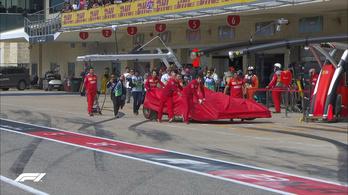 Aggódhat a Ferrari, Leclerc alatt elfüstölt a Ferrari motorja