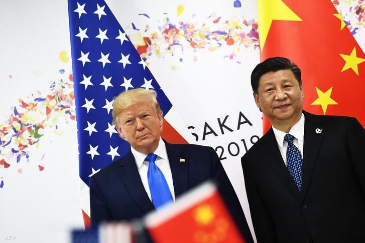 Donald Trump és Hszi Csin-ping az oszakai G20 találkozón 2019. június 29-én
