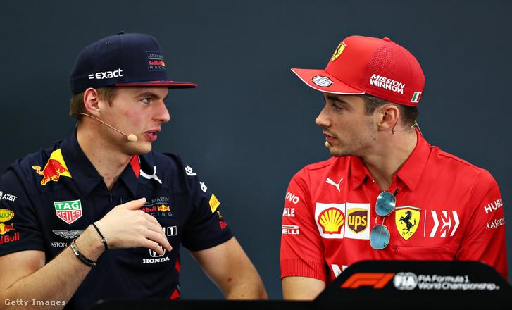 Verstappen és Leclerc
