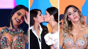 Leszbikus csók, klímatüntetés és mellvillantás - ez történt az MTV európai díjátadóján