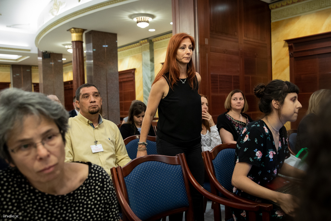 Renner Erika, sértett a harmadfokú tárgyalás első tárgyalási napján 2018 júliusában