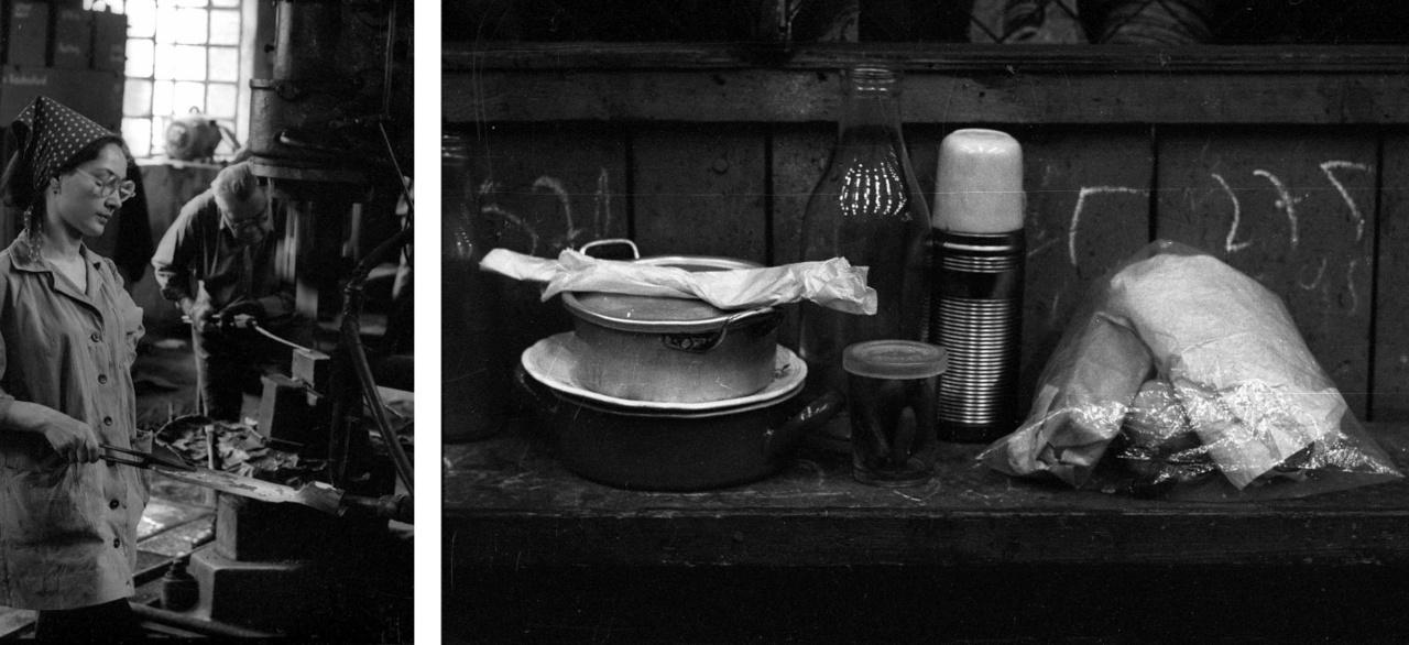 """Vasgyár, Salgótarján, 1975. """"Igen, ilyen volt akkoriban a világ. A szürkeség számtalan árnyalatával"""" – írja az album előszavában László Ágnes."""