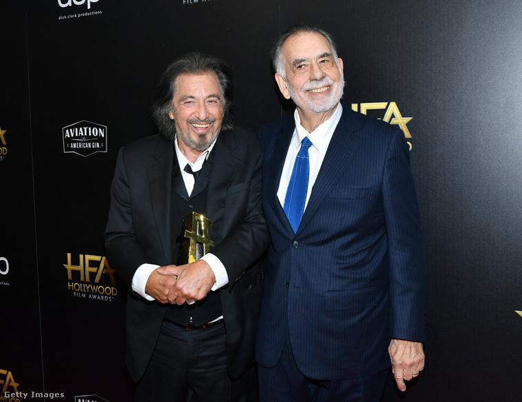 Két még nagyobb legenda: Al Pacino színész és Francis Ford Coppola rendező.