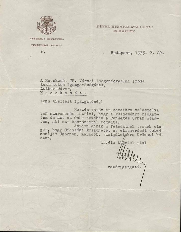 A pesti Ritz vezérigazgatója is a Führer-féle propagandagépezet egyik fontos láncszeme volt