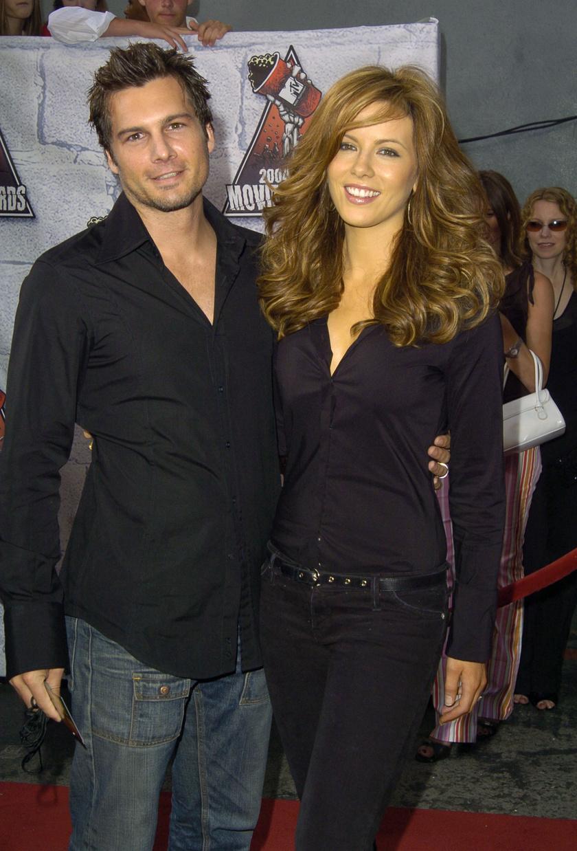 Kate Beckinsale és Len Wiseman 2004-ben, a házasságuk évében.