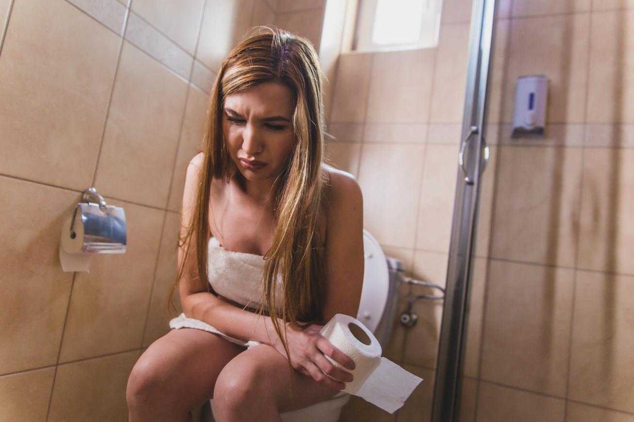 WC véres széklet