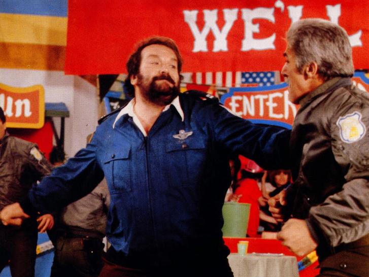 Bud Spencer és Riccardo Pizzuti egy jelenetben