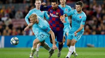 A Barcelona nem tudott gólt lőni hazai pályán a Slaviának