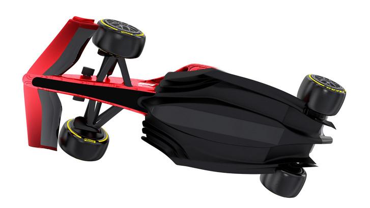 A 2021-ben érkező F1-kocsik padlólemezének alja, rajta a jól látható Venturi-csatornákkal
