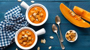 Sós, édes és zöldséges: zöldségkrémleves fetával és mézes tökkel