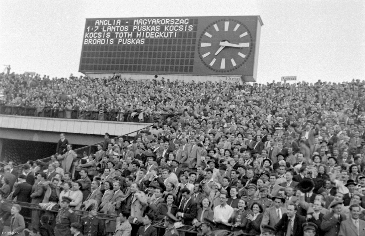 A Népstadionban sok emlékezetes meccset játszott az Aranycsapat, de ezek közül is kiemelkedik az 1954. május 23-i, Anglia elleni meccse. Az angolok a félévvel korábbi, londoni 6-3-as meccs visszavágójára érkeztek Budapestre, hogy revansot vegyenek Puskásékon. Az eredmény még nagyobb verés lett, a helyszínen 100 ezer néző látta, ahogy az angol válogatott történetének máig legsúlyosabb vereségét szenvedte el, 7-1-re kaptak ki. A meccs után szállóigévé vált, hogy az angolok egy hétre jöttek, és 7-1-re mentek haza.
