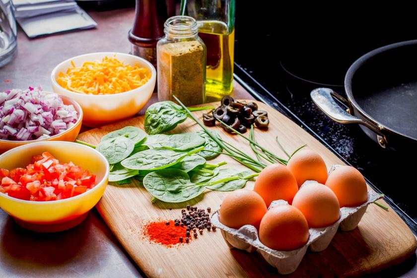 alacsony kalóriatartalmú omlet ketodiéta