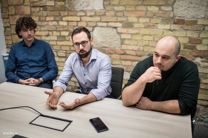 Veres Dániel, Nagy Szabolcs és Szalay Kristóf, a Turbine.ai alapítói