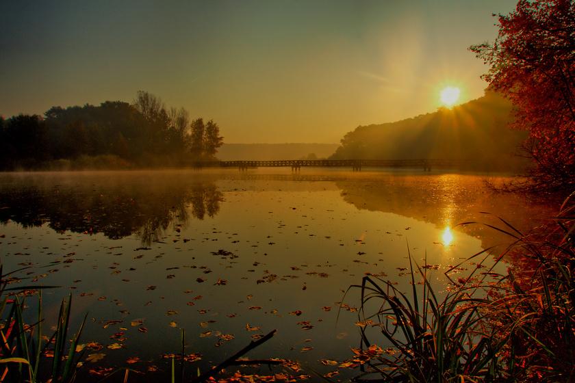Ősszel aranyszín vonja be a meseszép magyar tavat: a Deseda-tó ilyenkor különleges látvány
