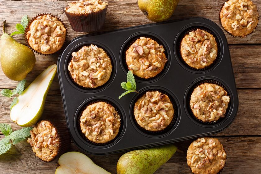 30 perces körtés-zabpelyhes muffin: egyszerre lágy és roppanós
