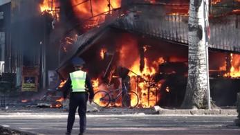 Felrobbant egy kávézó Kirgizisztánban