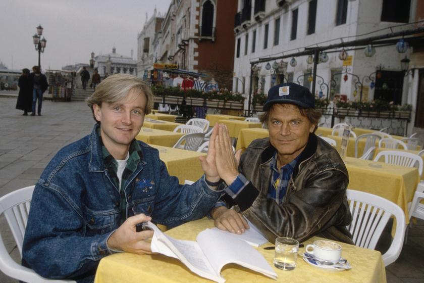 Terence Hill és fia 1994-ben.