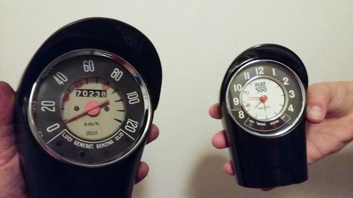 Kati már tavaly karácsonykor kapott tőlem egy 500R-es ébresztőórát. Most találkozott az eredetivel