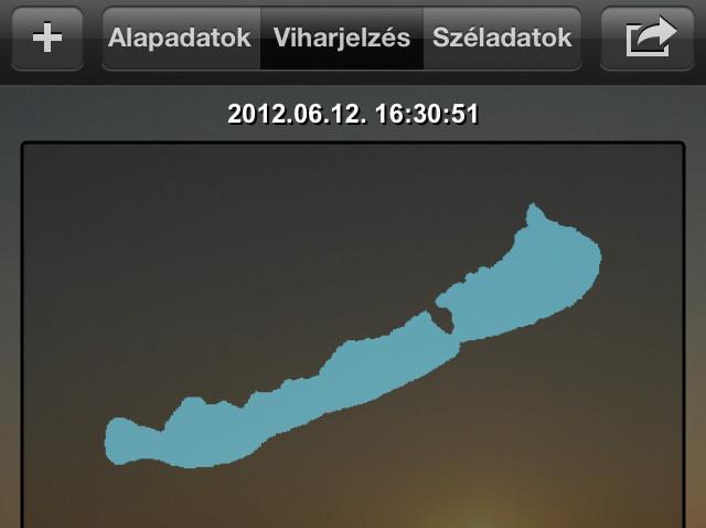 A Balaton nevű program Iphone-on