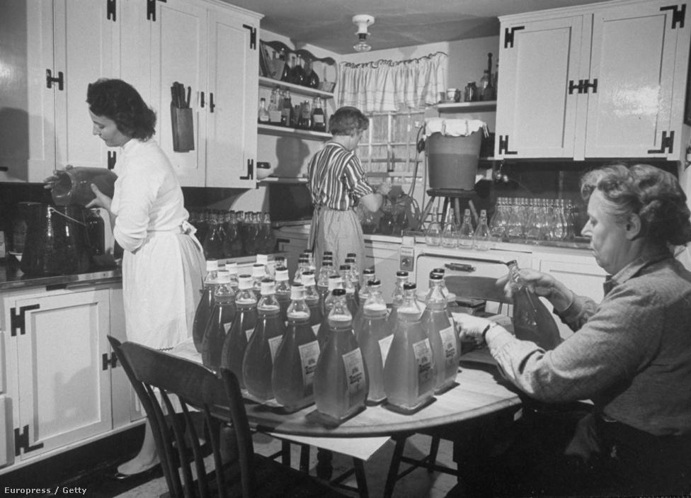 """Bostoni életkép: háziasszonyok házi elixírt készítenek méz és ecet keverékéből. A """"Honegar"""" (""""Mezet"""") minden bajra jó, kivéve a fojtogatást: 1962. augusztus végéig újabb hat, 57 és 85 közötti nőt gyilkoltak meg lakásaikban. A legtöbbjüket saját nejlonharisnyájukkal fojtották meg."""