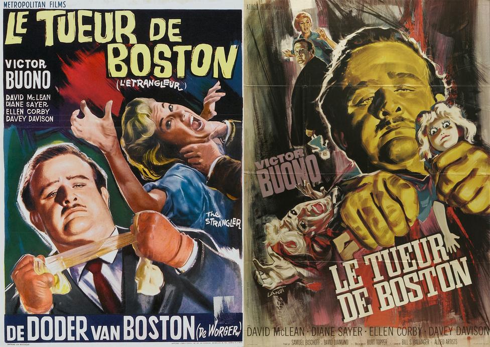 """1964-ben rögtön horror is készült a bűncselekmény-sorozatról. Amerikában jobbnak látták, ha nem szerepeltetik Bostont a film címében, így csupán """"A fojtogató"""" címmel került mozikba Burt Topper filmje. Európában viszont nem kényeskedtek, """"A bostoni fojtogató"""" szerepelt a plakátokon."""