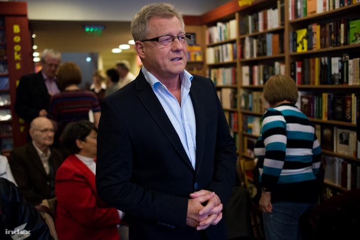 Herényi Károly 2014-ben a A csendes ulti - Tíz ülésben című könyv bemutatóján Budapesten