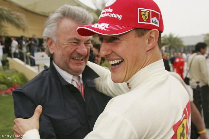 Willi Weber és Michael Schumacher 2006. március 11-én Bahreinben