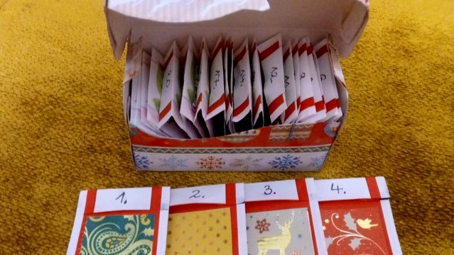 Adventi naptár teafilterekkel