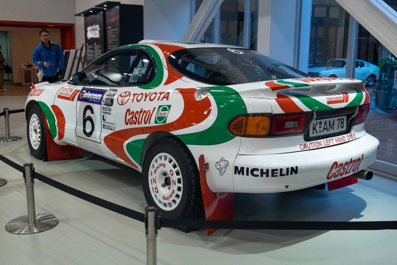 Ez meg itt az eggyel későbbi (ST185-ös) Celica GT-Four, amúgy Juha Kankkunen kocsija