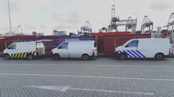 300 kiló kokaint foglaltak le Rotterdam kikötőjében