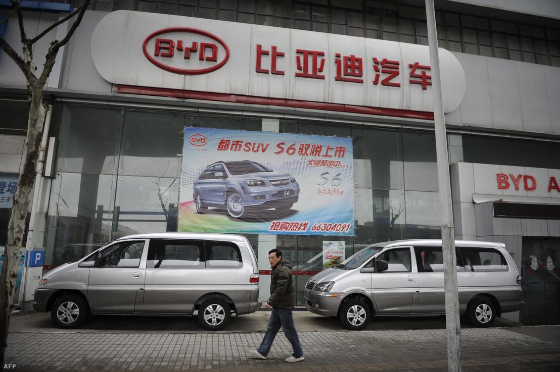 BYD bemutatóterem Shanghaiban